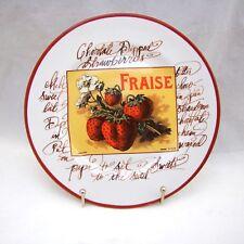 "Williams-Sonoma Rosanna HARVEST MARKET Salad Plate 'Fraise' 7 3/4"" EXCELLENT"