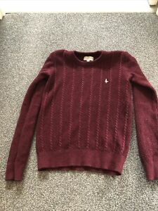 Burgandy Womens Jack Wills Jumper. Size 10 But Fits Like A Size 8