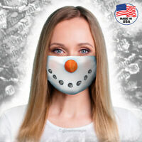Snowman Christmas face mask- Costume-Washable & Reusable,Soft-Free Shipping