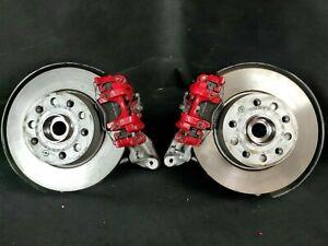 VW Audi Skoda Achsschenkel Radlagergehäuse Bremssattel Rot Bremsscheiben Hinten