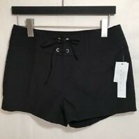 La Blanca Women's S Small Black Board Shorts Resort Wear Swim Coverup NWT