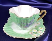 Foley (Shelley) China Co. Tea Cup & Saucer Hand Painted ***FREE USA SHIPPING***