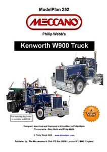 Meccano Model Plan - Kenworth W900 Truck