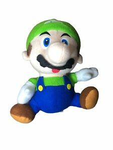 Nintendo 2009 Super Mario Bros LUIGI Plush TOY with Window  Suction Cup