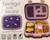 Bentgo Kids Prints Unicorn Leak Proof 5 Compartment Bento Kids Lunch Box NEW