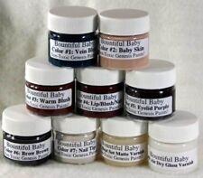 GENESIS HEAT SET PAINT Pre-mixed Reborn Doll Supply 9 Jars Small Set BEST PAINTS