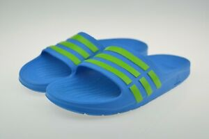 Adidas Duramo Slide Blue Junior Kids Flip Flop Size Uk 5