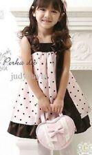 Vêtements marrons en polyester sans manches pour fille de 2 à 16 ans