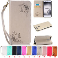 Luxury Protector Flip Cover Stand Wallet PU Leather Case For Huawei Mobile Phone