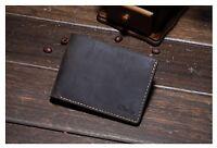NEW MEN WALLET Genuine Crazy Horse Leather Bifold Wallet or Money Clip