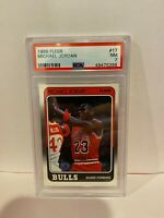1988 Fleer Michael Jordan Chicago Bulls Basketball Card HOF PSA NM 7 #17 Vintage