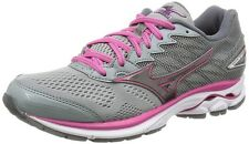 Mizuno Lady's Running shoes Wave Rider 20 Super wide J1Gd1706 Gray X gray X pink