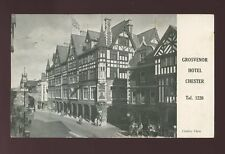 Cheshire CHESTER Grosvenor Hotel Advert used c1950 PPC