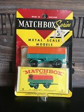 Matchbox Regular Wheels no.2D-1.Version mint Rare US Blistercard never open 1968