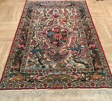 Persian Isfahan Silk Rug, insanely fine knotting 125x190cm Esfahan RRP £10000
