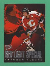 1995-96 Fleer Ultra Red Light Special Theo Fleury Calgary Flames #2