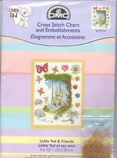Cross Stitch Chart and Embellishments - Lickle Ted and Friends - So Cute! NEW