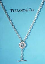 Tiffany & Co Elsa Peretti Sterling Silver Sevillana Toggle Lariat Necklace 20""