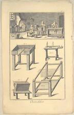 Adventkerzen WEIHNACHTSKERZEN Orig Kupferstich um 1770 KERZEN Kerzenherstellung