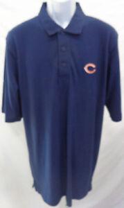 Chicago Bears Football Adult Short Sleeve Polo Shirt Navy *Imperfect*