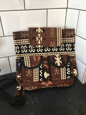 Kaptecks Backpack Rucksack Aztec Pattern Brown Boho Hippie