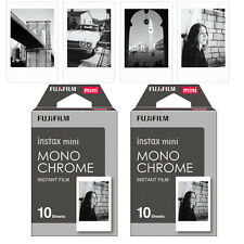 Fujifilm Fuji Mini 20PCS Monochrome Mono Film Photos For Instax 7s 8 90 300 SP-2