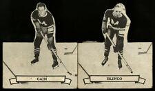 1936-37 V304D O-PEE-CHEE OPC SERIES D~NO BACKS~#110 HERB CAIN, #127 RUSS BLINCO
