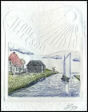May Lorentz 1986 Exlibris C3 Bookplate Architecture Sailing Ship 2122