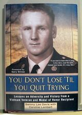 YOU DON'T LOSE 'TIL YOU QUIT TRYING by SAMMY L DAVIS - RARE SIGNED 1st PRINTING!