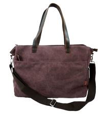 Large Canvas Tote Bag, Shopper, Travel, Shoulder Bag - Pale Plum