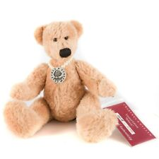 """Crabtree & Evelyn Rebecca Teddy Bear Plush 6"""" Seated Limited Edition Necklace"""