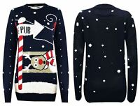 New Unisex Mens Ladies Rudolph - To the Pub Christmas Novelty Jumper