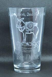 "Army 2nd Battalion, 2nd Field Artillery ""The Second First"" Big Deuce Pint Glass"