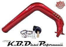 """Dark Candy Red 3.0"""" 6.6l Duramax Cold Side Intake Tube LLY 2004.5 2005 Chevy GMC"""