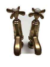 Vintage Original 1930s Art Deco Octex Brass Taps