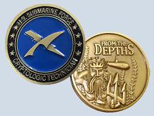 Submarine Rate CT Cryptologic Technician Insignia Commemorative Coin USN