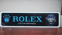 """Rolex Aluminum Sign  6"""" x 24"""""""