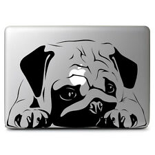 Black Big Pug Dog Decal Sticker Skin for Apple Mac book Air & Pro 13'' 15'' 17''