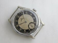 Rare vintage Tellus Cortebert calibre 499 movement military WWII watch Bicolor