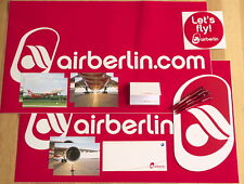 airberlin Aufkleber & Postkarten Set & 4 seltene Kugelschreiber PREMIUM, RARE