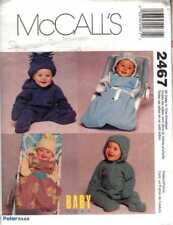 BABY Bunting SAC Hat  Size NB - Sml PATTERNS 8 to 15 lbs GIFT