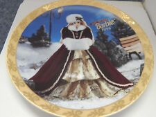 Happy Holidays Barbie 1996 Limited Edition Collectors' Plate with Coa and Box