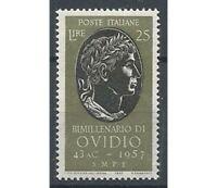 Francobolli ITALIA REPUBBLICA 1957 Publio Ovidio Nasone MNH**