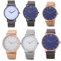 Fashion Women Men Casual Quartz Analog Gold Dial Leather Band Wrist Watches Hot
