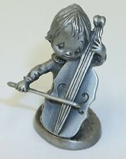 Vintage Betsey Clark Pewter Figurine Girl with Cello