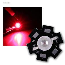 10 x POWER LED Chips auf Platine 3W ROT 660nm HIGHPOWER RED STAR rouge rojo rood