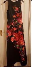 Ted Baker Marico Juxtapose Rose-Print Satin Maxi Dress Ted Size 3 UK Size 12
