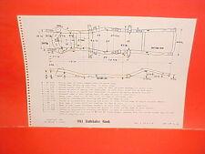1961 STUDEBAKER HAWK V-8 SIX SPORT COUPE LARK CONVERTIBLE FRAME DIMENSION CHART