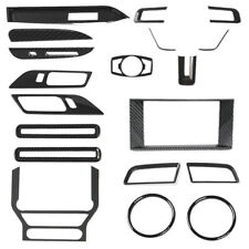 20X Full Set Interior Decoration Trim Kit For 2015-19 Ford Mustang Carbon Fiber