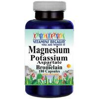 Magnesium Potassium Aspartate and Bromelain 180 Caps by Vitamins Because